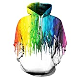 TDPYT Headbook Spritzlack Hoodies Männer/Frauen Mit Kapuze Pullover Mit Kappe 3D Sweatshirt Druckfarbe Hoody Trainingsanzüge Pullover Tops-B XL