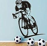 Fototapete Sport Bike Wandtattoos Fahrrad Vinyl KunstWandaufkleber Steuerndekor Abnehmbare Dekoration Für Jungen Zimmerfarbe 57 * 67Com