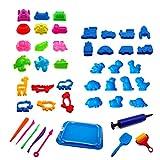YeahiBaby 45 Stück Strand Sandspielzeug Set mit Schaufel Sandschloss für Baby Kinder (Zufällige Farbe)