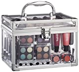 Briconti Schminkkoffer Acrylic, Acryl-Koffer mit 42 teiligem Schmink-Set