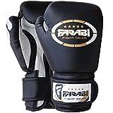 Kids boxing junior Boxhandschuhe, mma, muay thai, Kickboxen, Handschuhe, Boxsack training Boxhandschuhe 4 Farabi oz schwarz schwarz 4Oz
