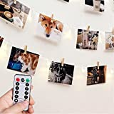 [Fernbedienung & Schaltuhr] RECESKY Foto Clip Lichterketten - 40 LED 8.5m Batterie Lichterketten - Bilderrahmen dekor, Fotorahmen Dekoration - für innen, Haus, Weihnachten, Hochzeit, Schlafzimmer