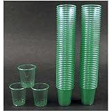 Med-Comfort 180 Schnapsgläser Schnapsbecher 2cl - 3cl Medikamentenbecher Schnapsinnchen grün