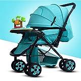 Huckyi Standardkinderwagen, Sportwagen Kindersportwagen Kinderwagen Klappbar,Reisebuggy Kombikinderwagen für Kinder ab Geburt bis 25 kg,blueA