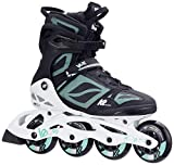 K2 Damen Fitness Inline Skates VO2 90 Pro W - Schwarz-Weiß-Grau - EU: 40 (US: 9 - UK: 6.5) - 30C0016.1.1.090