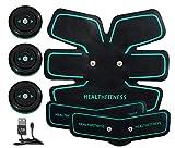 Brmind-Muscle Stimulator EMS Bauchmuskeltrainingsgerät Kann Eingestellt Werden Gürtel Toning Gym Workout Machine für Männer und Frauen