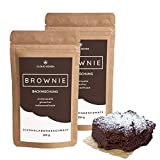 PROTEIN-BROWNIE-MIX - Glutenfrei   Mehr Eiweiß   Lower-Carb   Weniger Zucker & Kcal - CLOUD SEVEN (2x 200 g)