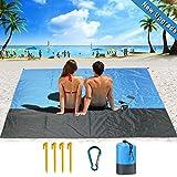 DA HENG Kompaktes Picknickdecke 210 x 200 cm, Picknickdecke Outdoor Wasserdicht Sandabweisend Picknickmatte, Stranddecke Weiches und Schnell Trocknendes Nylon - Ideal für Reisen, Wandern und Festivals