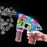 German Trendseller - LED Seifenblasen Pistole ┃ Light UP ┃ Mitgebsel ┃ Kindergeburtstag ┃ Bubble Gun für Kinder