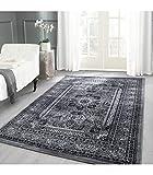 Orientteppich Klassischer Orientalisch Traditional Webteppich Schwarz Grau Weiß - 200x290 cm