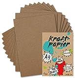 100 Kraftpapier-Karten DIN A4 Natur-Braun Umweltpapier 21,0 x 29,7 cm 120 g/m² Recycling-Papier 100% ökologische Brief-Bogen von Ihrem Glüxx-Agent