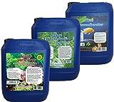 MIBO Spar Set Aquarium Pflege 3 x 5.000ml +Algenradierer Wasseraufbereiter Algenvernichter Filteraktivator