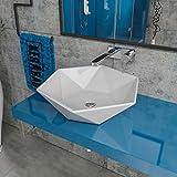Design Keramik Waschbecken Waschtisch Waschschale Aufsatzwaschbecken Aufsatzwaschtisch Gäste WC Becken KB-P819 BxTxH: 53,5x46,5x14,5cm
