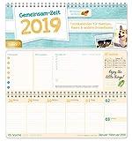 Gemeinsam-Zeit 2019 / Tischkalender für Familien, Paare & andere Dreamteams/Wochenkalender Querformat mit Spirale/Family-Timer