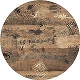 Werzalit / hochwertige Tischplatte / Ex works / runde Form 80 cm / Bistrotisch / Bistrotische / Gartentisch / Gastronomie