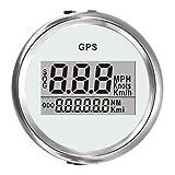 Viviance 4 Typen Auto-Gauge Digital GPS Speedometer 52Mm Geschwindigkeit Kilometerzähler Speed Chart - Weiß + Silber