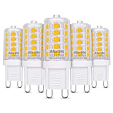 Albrillo 5er Pack 3.5W G9 LED Lampe 330lm, 3000k warmweiß G9 LED Leuchtmittel ersatz 40W Halgonlampe, 360° Abstrahlwinkel