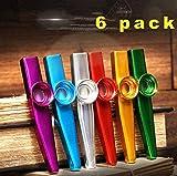 Kazoos/Kazoo Musik Instrument,Metallkazoo, aus Metall in verschiedenen Farben,Kazoo Flöten-Membranen, Ein guter Begleiter (6)