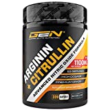 L-Arginin + L-Citrullin - 320 Kapseln - 1100 mg pro Kapsel - Citrullin 2:1 + Arginin Base 1:1 Verhältnis - Premium Aminosäuren - Beliebt bei Sportler & Bodybuildern