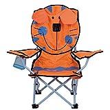 Kinderstuhl faltbar Tiger mit Sicherheitsschloss Polyester orange - Kinder Klappstuhl Stuhl Campingstuhl Faltstuhl Strandstuhl Gartenstuhl