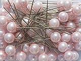 Perlen-Nadeln Deko-Nadeln Perle ROSA 10mm 50 Stück ACHTUNG! KEINE STECKNADELN