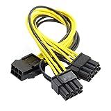chenyang PCI-E PCI Express 8pin ATX 6pin Stecker auf Dual & 6pin Buchse Video Karte Splitter Power Verlängerungskabel Kabel