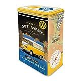 Nostalgic-Art 31102 Volkswagen - VW Bulli - Get Away! | Retro Aromadose| Blech-Dose | Kaffee-Dose | Aromadeckel | Metall