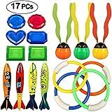 Tacobear Tauchen Spielzeug Unterwasser Schwimmbad Spielzeug Tauchen Pool Spielzeug 4 Stück Tauchringe, 4 StückToypedo Bandits, 3 Stück Seaweed Ball, 6 Stück Unterwasser Schätze Schwimmen Spielzeug-Set für Kinder(seaweed)