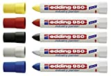 Edding Spezialmarker 950 industry painter, 10 mm | Einzeln und in verschiedenen Mengen, Farben und Sortierte zur Auswahl (5, Alle 5 Farben)