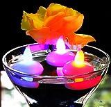12 Schwimmkerzen Schwimmende LED Teelichter mit Farbwechsel - Kerzen für Pool, Badewanne, Teich, Hochzeit von PK Green