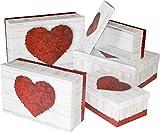 HEKU 792-41 Geschenkbox 5erSet Geschenkkarton 20x28 Kartonage 'Pure Love'