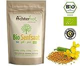 Bio Senfsamen Senfsaat Senfkörner (250g) ganz gelb auch weiß genannt vom-Achterhof ideal zur Senf-Herstellung