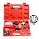 FreeTec Vakuumpumpe Bremsenentlüfter Hand Vakuumtester Bremsenentlüftung Bremse Vakuum Tester KFZ Motorrad