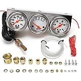 Universal 2,27'Wassertemperatur Spannung Volt Öldruck PSI-Messgerätesatz 3 in 1