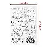 ECMQS DIY Schaf Transparente Briefmarke, Silikon Stempel Set, Clear Stamps, Schneiden Schablonen, Bastelei Scrapbooking-Werkzeug