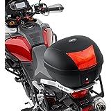 Motorrad Topcase Motorradkoffer QBag Monolock Topcase Basic 28 Made by Givi, einfach abnehmbar, Universaladapterplatte, sehr haltbar, Schwarz, 28 Liter