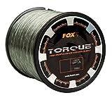 Fox Torque Line 1000m Karpfenschnur, monofile Schnur zum Karpfenangeln, Angelschnur für Karpfenrolle, Durchmesser/Tragkraft:0.30mm / 5.00kg Tragkraft