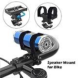 DEtrade Multifunktionale Wireless Sprecher Halterung Lautsprecherhalterung für Fahrräder mit verstellbarem Gurt für Die Meisten (Black)