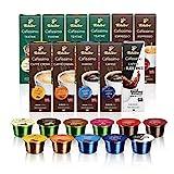 Tchibo Cafissimo Probierbox Caffè Crema, Espresso, Kaffee und Tee 110 Stück (11 x 10 Kapseln)