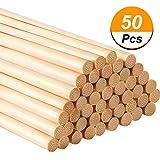 Hestya12 Zoll Lange Bambus Holzstab Handwerk Sticks für Handwerk Projekte, 50 Packung