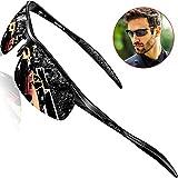 SIPLION Herren Sport Polarisierte Treiber Glasses Sonnenbrillen Al-Mg Metallrahme Ultra leicht 8177 Black