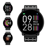 Fitness Armband, LIFEBEE Smartwatch Wasserdicht Smart Watch Fitness Tracker Uhr mit 1.3 Zoll Farbbildschirm, Damen Herren Armbanduhr Pulsmesser SMS Beachten Sportuhr passend für Android iOS
