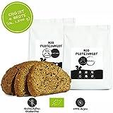 PALEO Brot-Backmischung: 2er Pack Kastanie & Mandel | Bio | Vegan | Getreidefrei, Gluten-frei | Eiweissbrot - 20% Protein | ohne Zucker | Hergestellt in DE | Ergibt 4 Brote