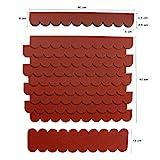 Mini Dachschindeln,Rot,Dachpappe,Vogelhäuser,Kaninchenstall,Holzgestell,Betonsäulenüberdeckung,Sandkastendächer,Hundehütte,Briefkasten,Geräteschuppen