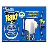 Raid (Paral) Mücken-Stecker 45 Nächte Starter-Kit (inkl. Nachfüller), Insekten-Stecker zum Schutz vor heimischen und tropischen Mücken, 3er Pack (3 x 27 ml)