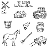 Hothap Farm Elements Transparent Silikon Klar Stempel Für Scrapbooking DIY Album Dekoration