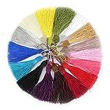 RUBY - 50 Quasten aus faden pompon zum basteln für handwerk schmuck und handwerk (Mehrfarbig)