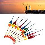 Toruiwa 10X Posen Set Angeln Schwimmer Angelposen Fisch Float Angeln Bobber Float Angelzubehör für Angeln auf Karpfen Forellen Aal