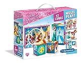 Clementoni 41504.5 - Würfelpuzzle 'Disney Prinzessinnen', 12 Teile