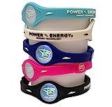 Power Energy Balance Band, Fitness-Armband aus Silikon mit holografischem Motiv, mit natürlichen Mineralien und negativen Ionen angereichert, schwarz